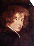 Youthful Self-Portrait Poster by Sir Anthony Van Dyck