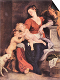 The Holy Family with the Basket Print by Peter Paul Rubens