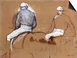 Two Jockeys Posters by Edgar Degas