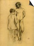 Naked Couple with Woman Sitting Láminas por Henri de Toulouse-Lautrec