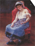 A Girl Asleep Prints by Pierre-Auguste Renoir