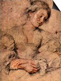 Portrait of a Young Woman Posters by Peter Paul Rubens