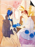 Tea in the Afternoon Prints by Mary Cassatt
