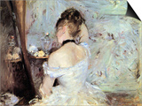 Lady in the Toilet Print by Berthe Morisot