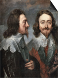 Portrait of Charles I, King of England (Detail) Posters by Sir Anthony Van Dyck