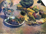 Still Life with Fruit Posters by Paul Gauguin