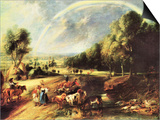 Landscape with Rainbow Prints by Peter Paul Rubens