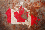 Canada Flag map Photographic Print by Michael Tompsett