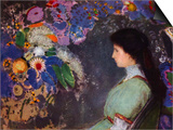Portrait of Violet Heymann Posters by Odilon Redon