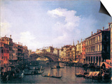 The Rialto Bridge from the South Print by  Canaletto