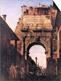 Titus Arch in Rome Prints by  Canaletto
