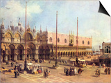 La Piazza San Marco Poster by  Canaletto
