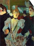 La Goulue Entering the Moulin Rouge Póster por Henri de Toulouse-Lautrec