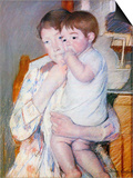 Baby on the Arm of the Mother Posters by Mary Cassatt