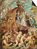 The Medici's Arriving in Marseille, Sketch Posters by Peter Paul Rubens