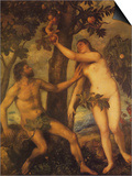 The Fall of Man Prints by  Titian
