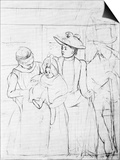 In the Bus Prints by Mary Cassatt