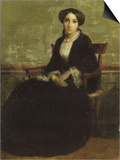 A Portrait of Genevieve Bouguereau 1850 Poster by William Adolphe Bouguereau