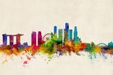 Singapore Skyline Photographic Print by Michael Tompsett