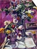 Lilac and Tulips Posters av Lovis Corinth