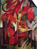 Foxes Prints by Franz Marc