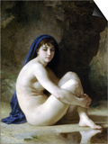 Seated Nude Posters by William Adolphe Bouguereau