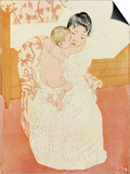 Motherly Tenderness Posters by Mary Cassatt