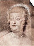 Portrait of Maria De' Medici Art by Peter Paul Rubens