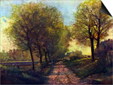 Lane Near a Small Town Prints by Alfred Sisley