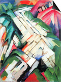 Mountains - Landscape Poster by Franz Marc