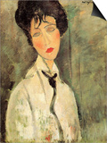 Portrait of a Woman with a Black Tie Prints by Amedeo Modigliani