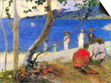 Seashore, Martinique (also known as Fruit Porters at Turin Bight) Print by Paul Gauguin