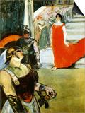 Messalina Descending Pósters por Henri de Toulouse-Lautrec