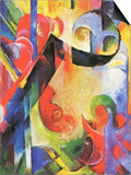 Broken Forms Poster by Franz Marc