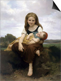 The Elder Sister Art by William Adolphe Bouguereau