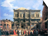 The Festival Rochus Prints by  Canaletto