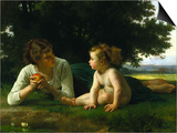 Temptation Posters by William Adolphe Bouguereau