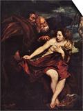 Susanna in a Bath Kunstdrucke von Anthony Van Dyck
