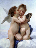 First Kiss Posters by William Adolphe Bouguereau