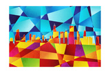 Chicago Illinois Skyline Posters by Michael Tompsett