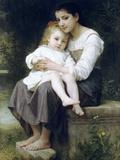 Big Sis Art by William Adolphe Bouguereau