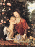 Mary with Child Posters by Peter Paul Rubens