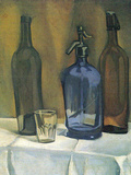 Siphon and Bottles Posters by Juan Gris