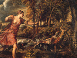 The Death of Actaeon Prints by  Titian