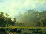 The Sierra Near Lake Tahoe, California Poster by Albert Bierstadt