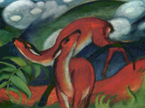 Red Deer II Print by Franz Marc