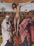 Christ on the Cross Between Mary and John Prints by Jan Van Eyck