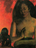 Barbaras Poster di Paul Gauguin