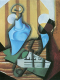 Still Life with Bottle and Glass Poster by Juan Gris