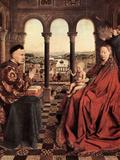 Madonna and Chancellor Nicholas Rolin Prints by Jan Van Eyck